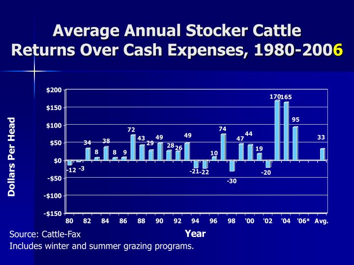 Average Annual Stocker Cattle