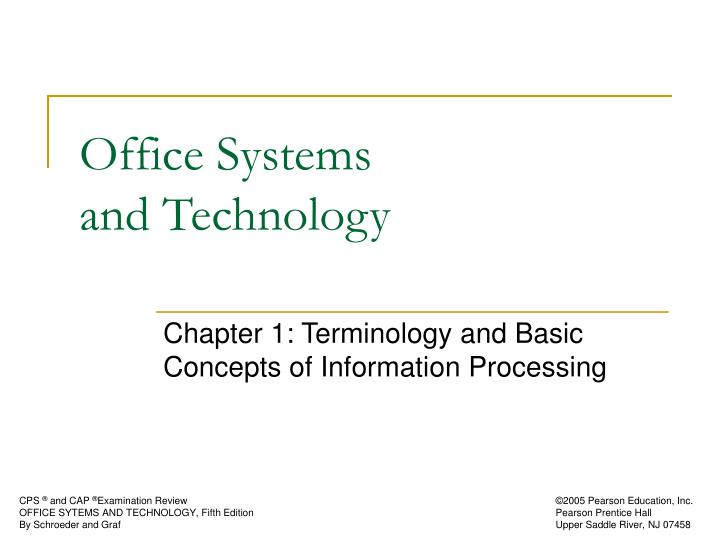 office systems and technology n.