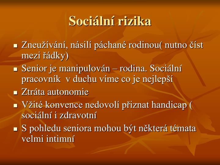 Sociální rizika