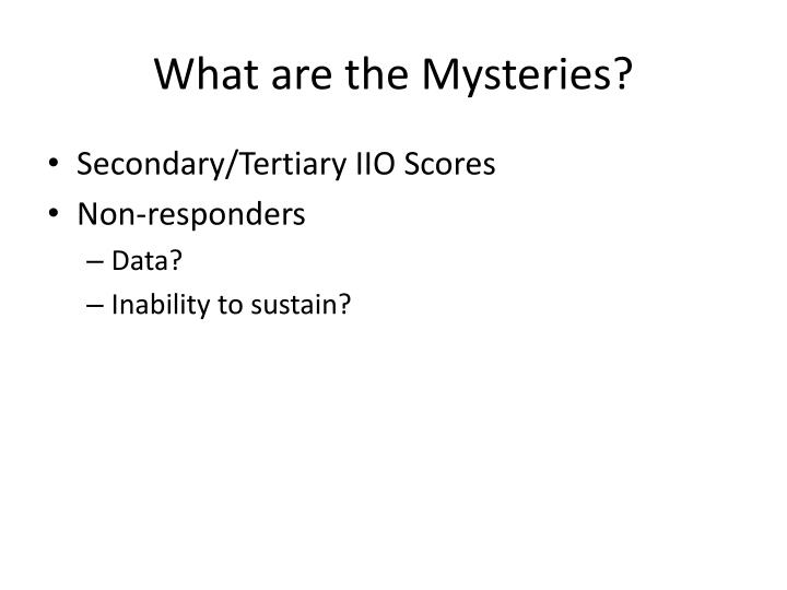 What are the Mysteries?