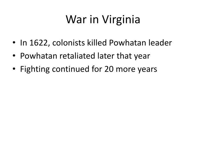 War in Virginia