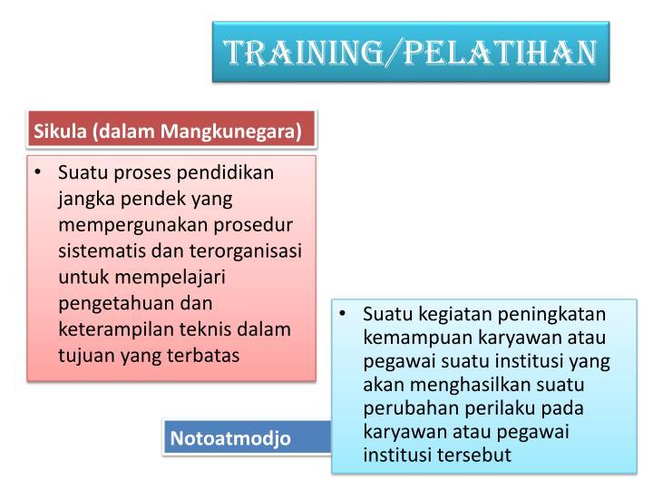 TRAINING/PELATIHAN