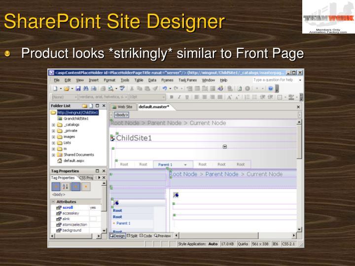 SharePoint Site Designer