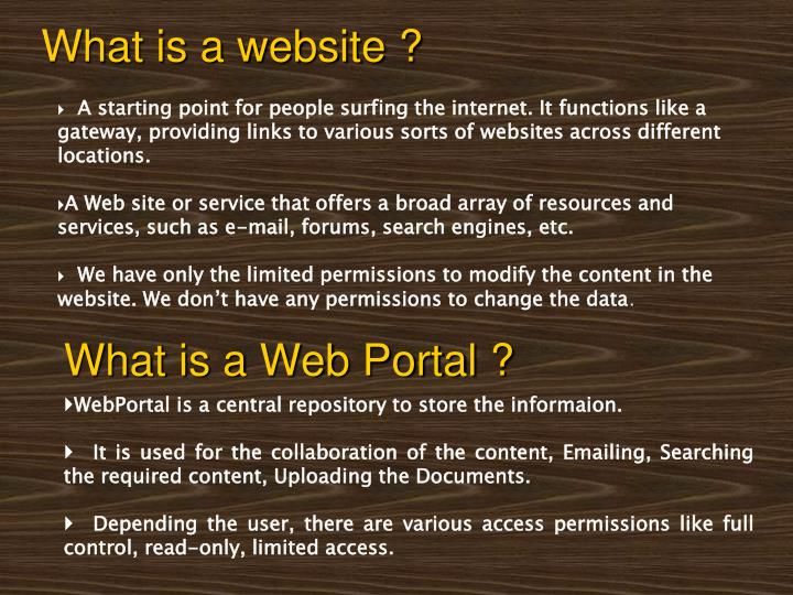What is a website ?