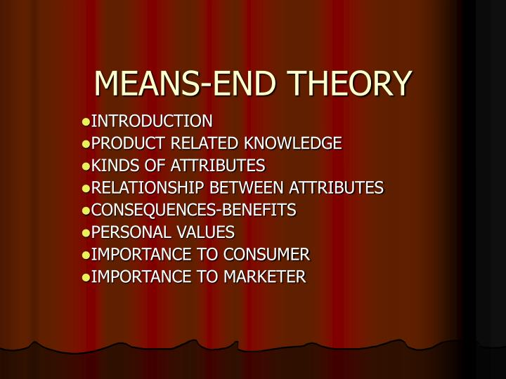 means end theory n.