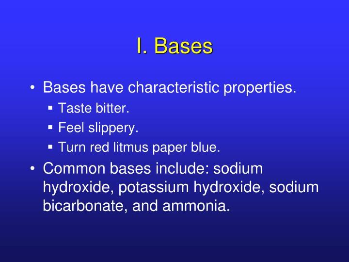 I. Bases