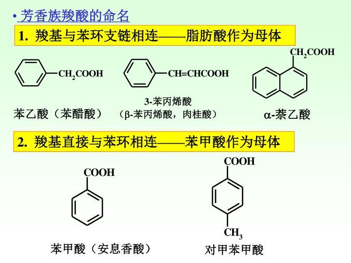 芳香族羧酸的命名