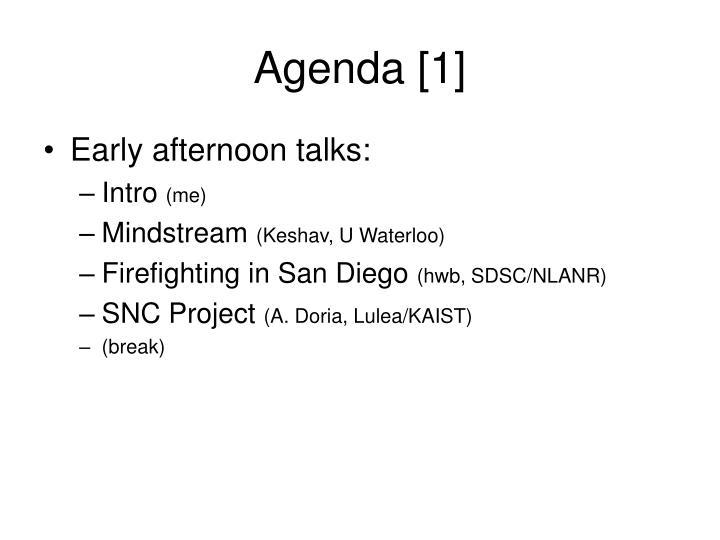 Agenda [1]
