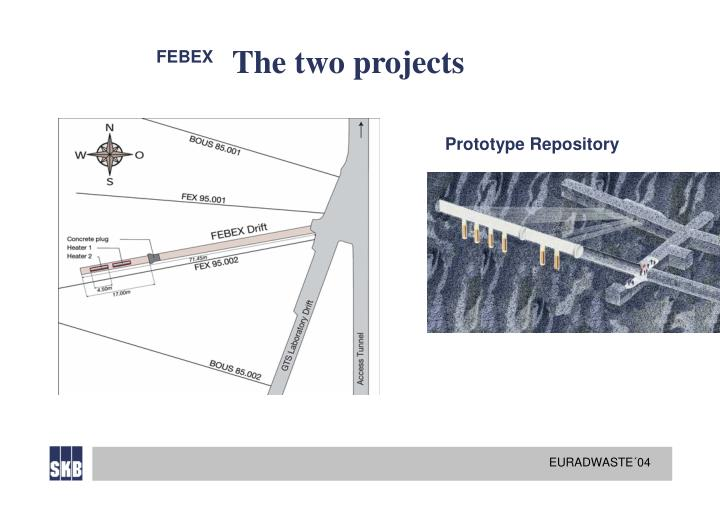 The two projects