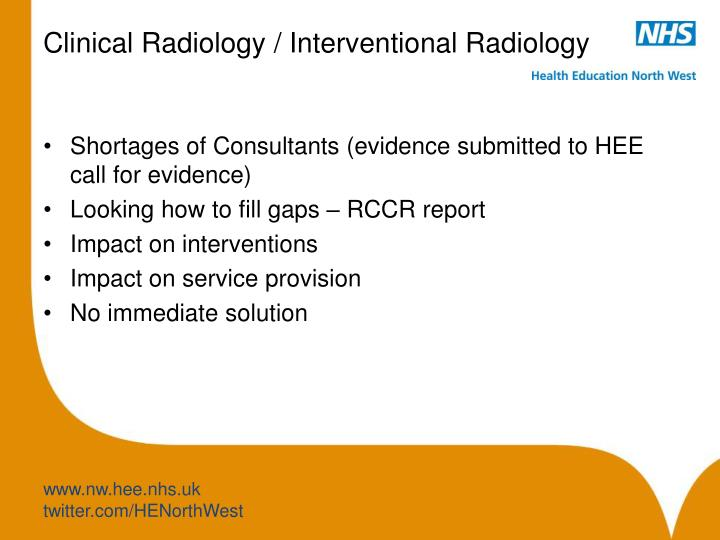 Clinical Radiology / Interventional Radiology