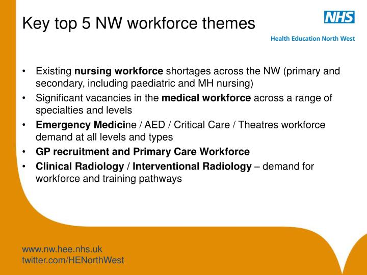 Key top 5 NW workforce themes