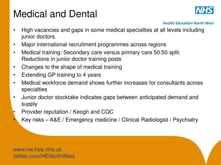 Medical and Dental