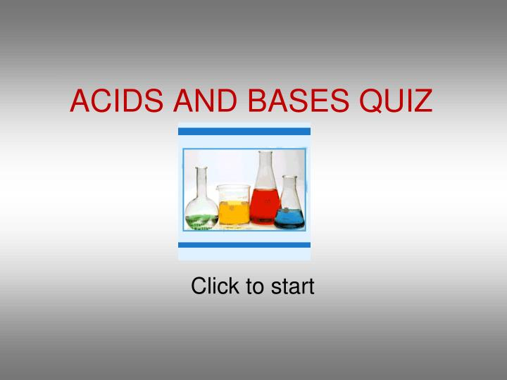 acids and bases quiz n.