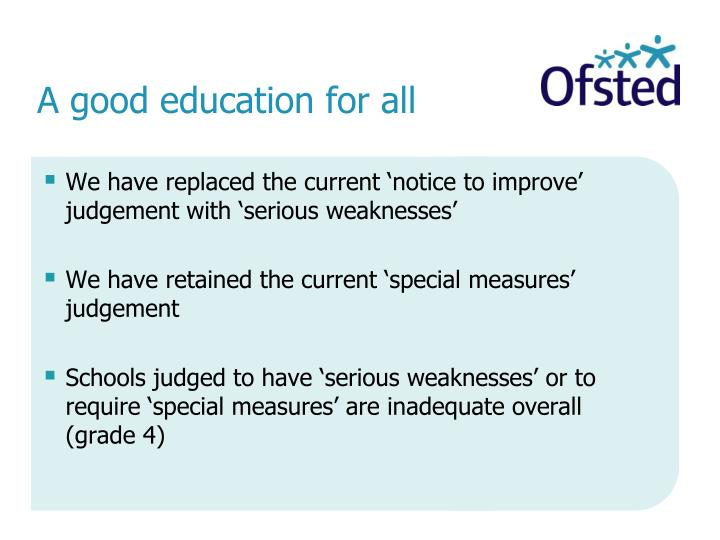 ofsted judgement standards 1 national standards for under 8s day care and childminding is available from your local authority or the dfes website wwwdfesgovuk 2 guidance to the national standards is available from your local authority or the ofsted website.