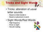 tricks and sight words