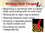 writing skill targets