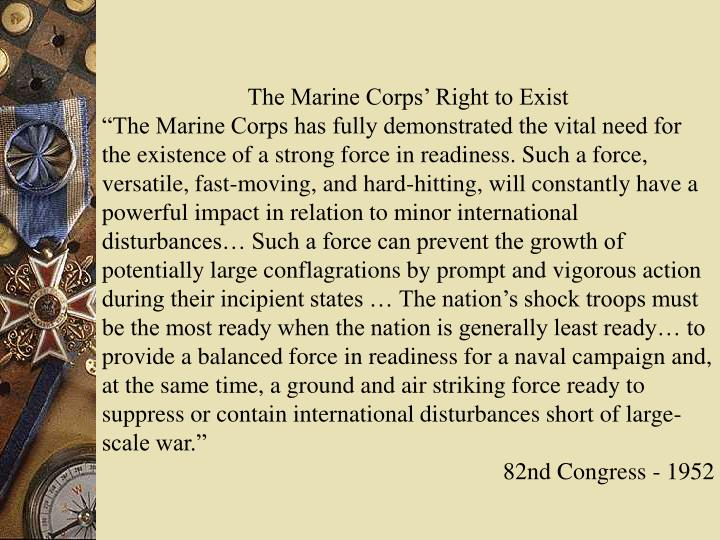 The Marine Corps' Right to Exist