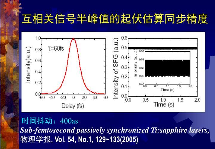 互相关信号半峰值的起伏估算同步精度
