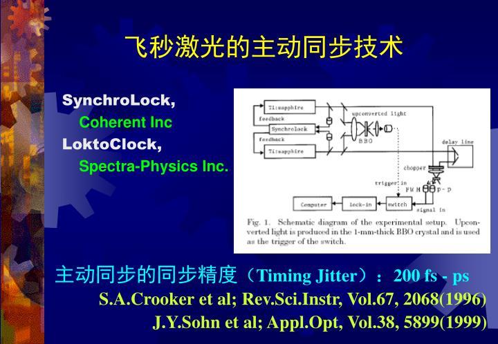 飞秒激光的主动同步技术