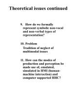 theoretical issues continued1