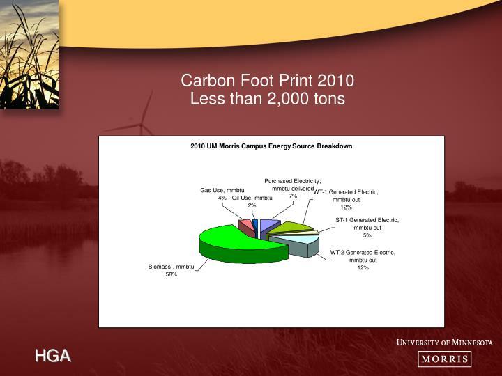 Carbon Foot Print 2010