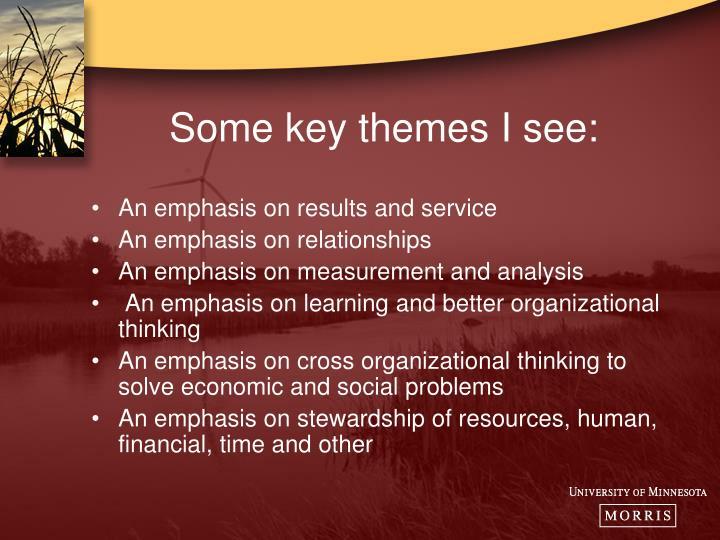 Some key themes I see: