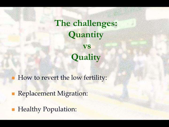 The challenges: