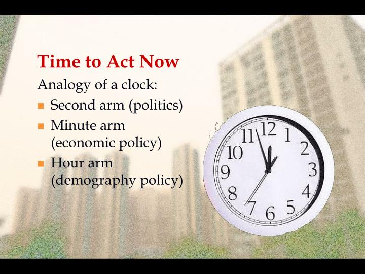 Time to Act Now