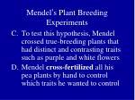 mendel s plant breeding experiments