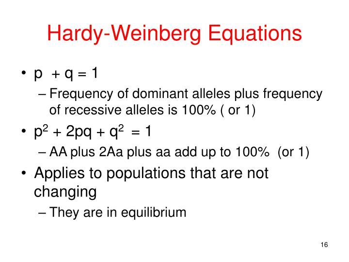 Hardy-Weinberg Equations