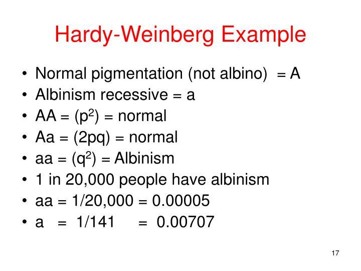 Hardy-Weinberg Example