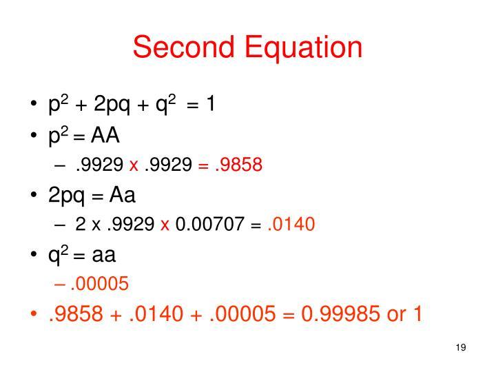 Second Equation
