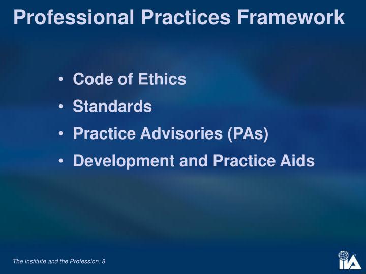 Professional Practices Framework