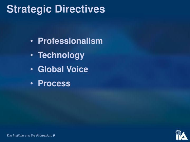 Strategic Directives
