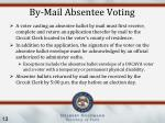 by mail absentee voting