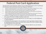 federal post card application