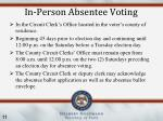 in person absentee voting