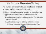 no excuse absentee voting