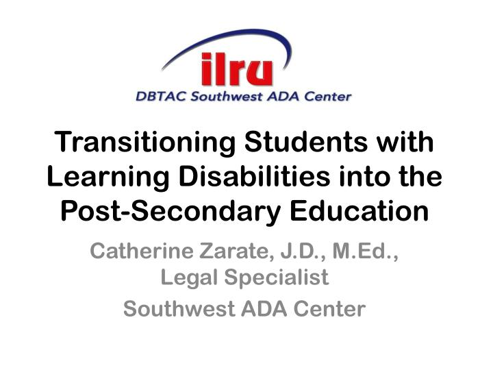 transition in students with disabilities essay Learning disability transitions essay learning disability transitions essay 943 words 4 pages transitioning from high school to college is a rough time for anyone there are tests to pass applications to fill out and scores to send in  the dynamic instruction provided to students with learning disabilities is customized according to each.