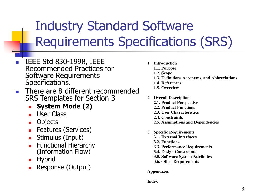 Ppt Lecture 5 2 B Requirements Specifications Ieee 830 Powerpoint Presentation Id 7075890