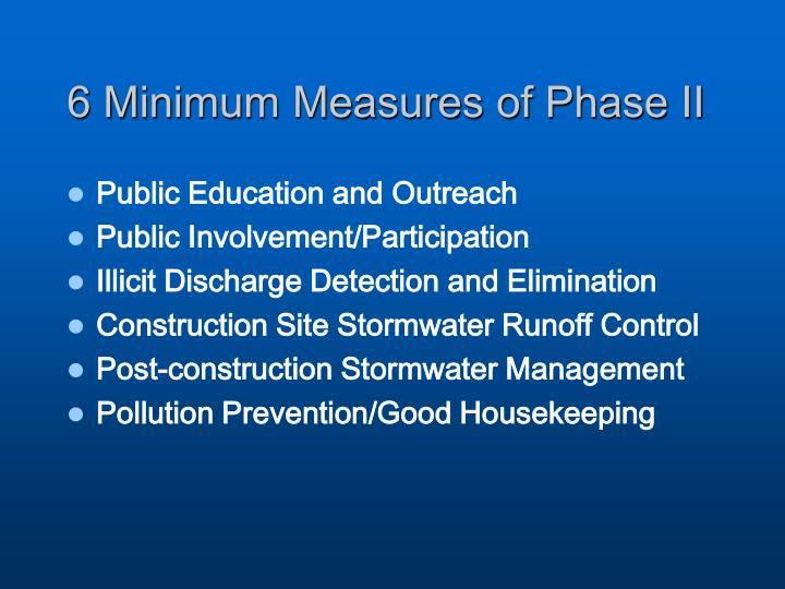 6 Minimum Measures of Phase II