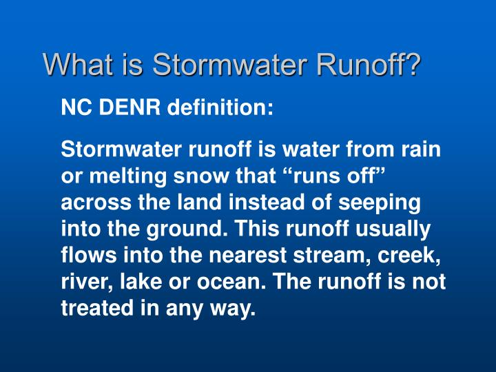What is stormwater runoff