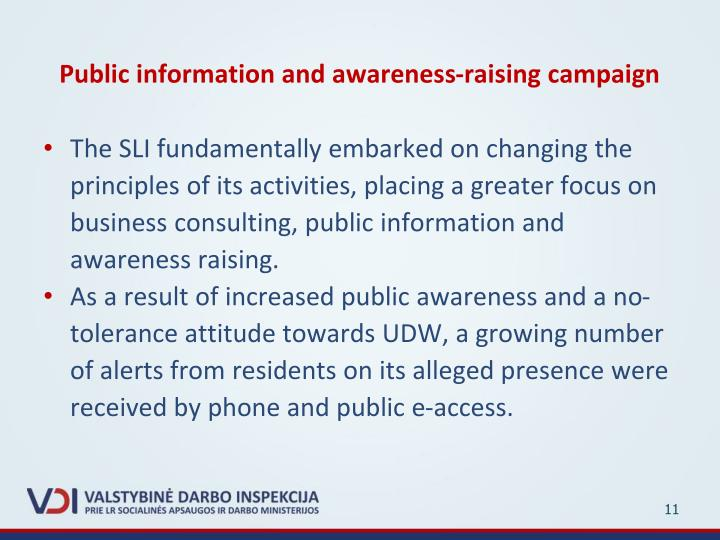 Public information and awareness-raising campaign