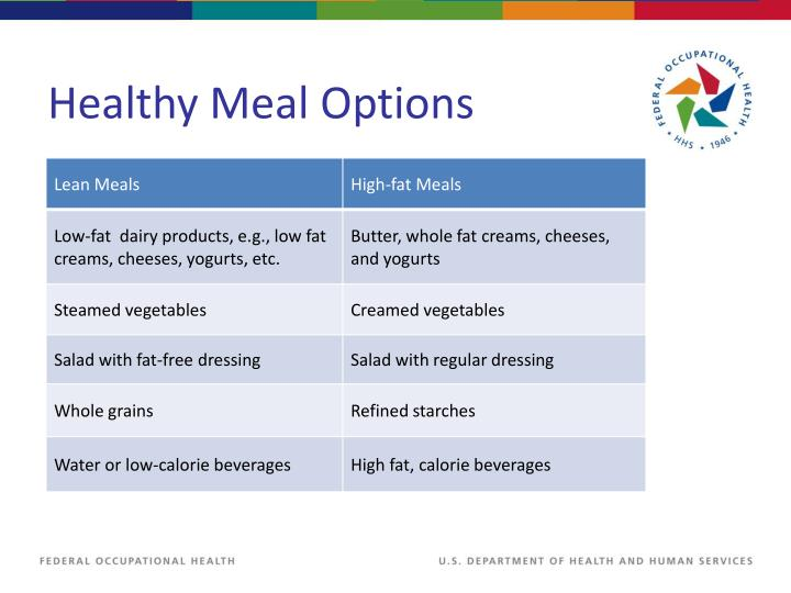 Healthy Meal Options