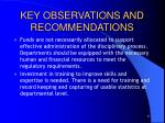 key observations and recommendations1