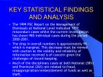 key statistical findings and analysis1