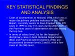 key statistical findings and analysis2