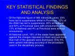 key statistical findings and analysis5