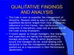 qualitative findings and analysis1
