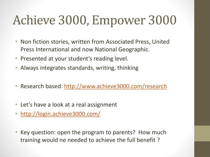 Achieve 3000, Empower 3000